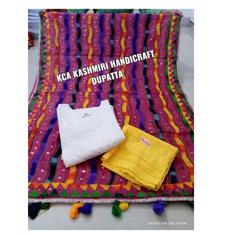 KCA Kashmiri Handicraft Dupatta*