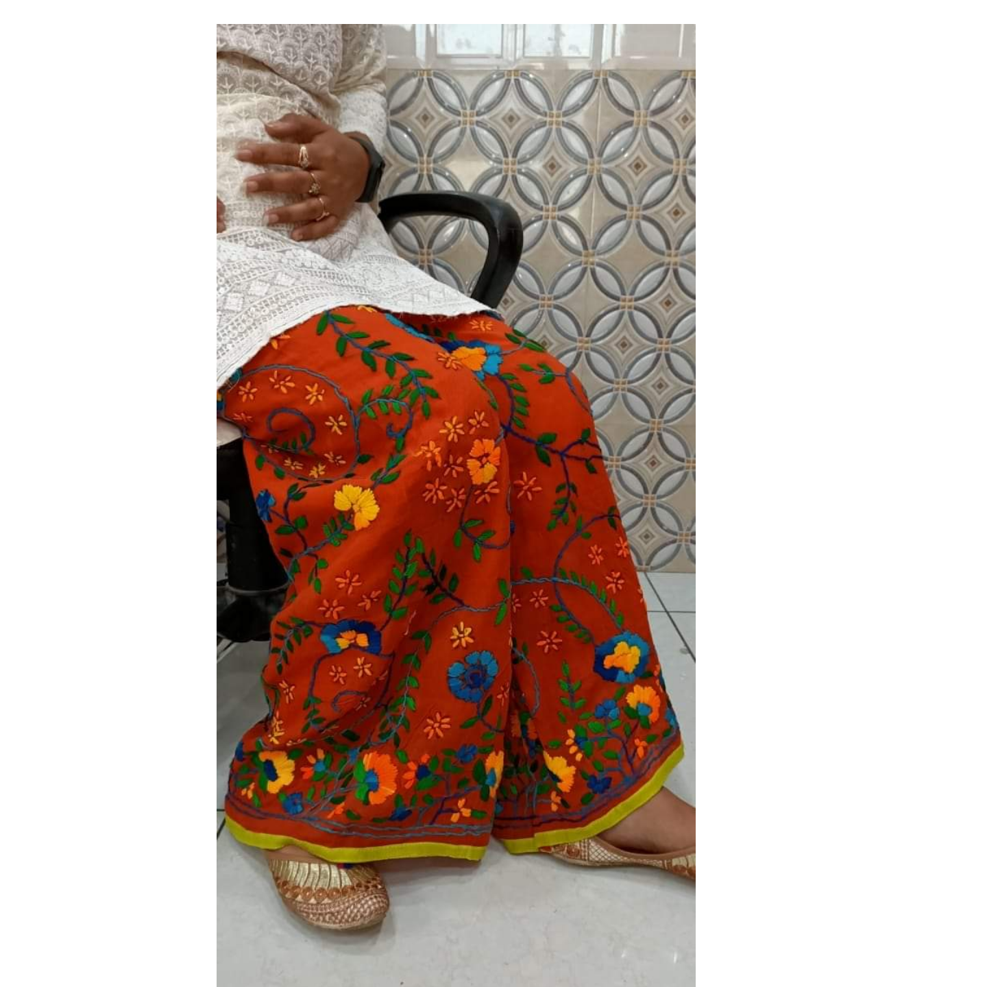 Handcrafted Georgette sharara