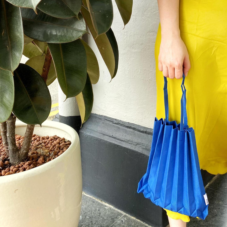 MINI PLEATS BAG in Blue Shop Boonniee