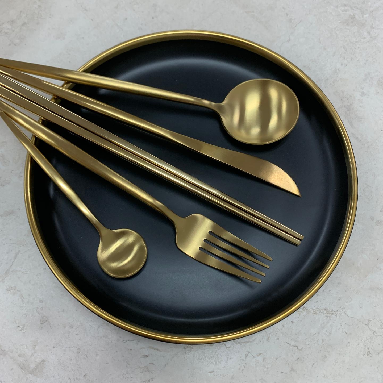 GOLD Cutlery Set Hello Hjem