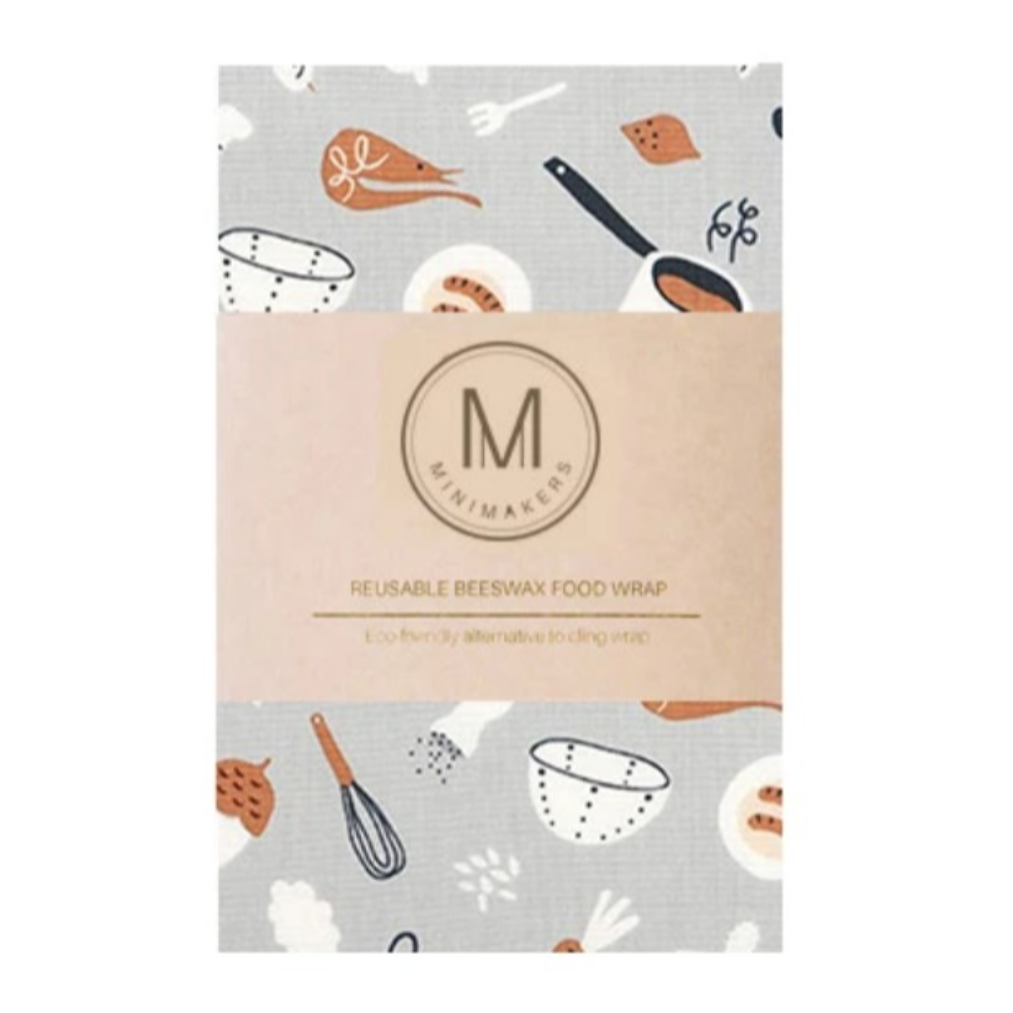 BAKE AND COOK Premium Cotton Beeswax Wrap Minimakers