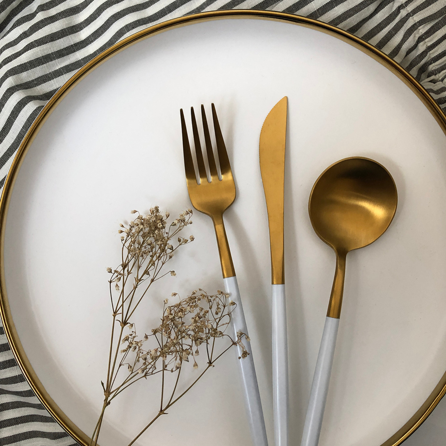 WHITE GOLD Cutlery Set Hello Hjem