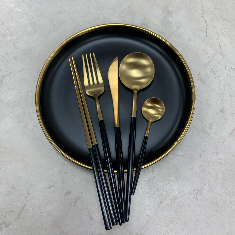 BLACK GOLD Cutlery Set Hello Hjem