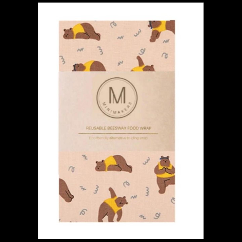 YOGA BEAR Premium Cotton Beeswax Wrap Minimakers