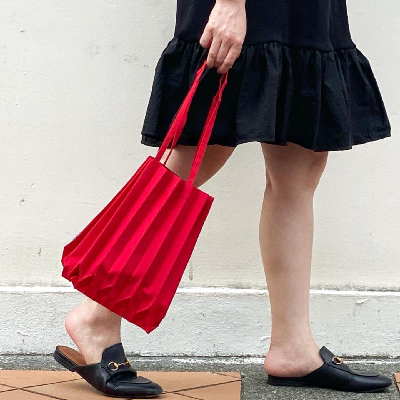 MINI PLEATS BAG in Red Shop Boonniee
