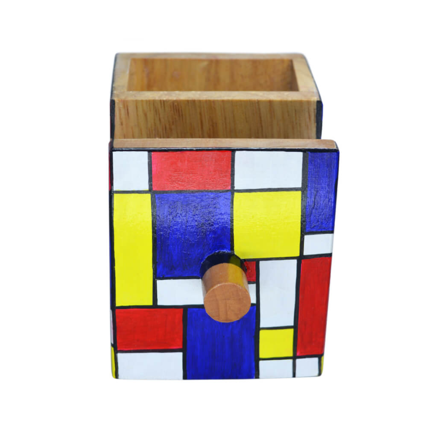 Multiple use pen stand with geometrical drawing