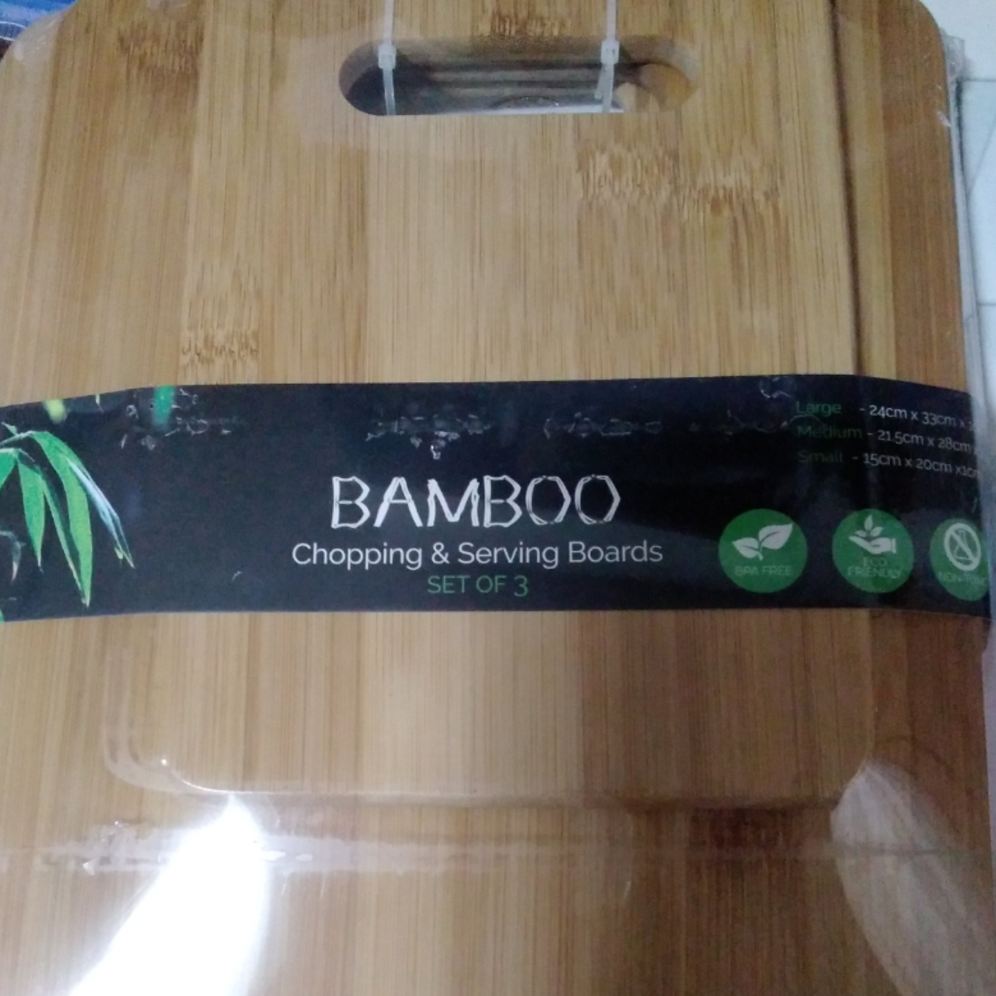 Bamboo Chopping and Serving Board (Set of 3)